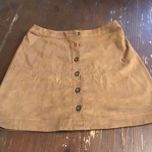 Abercrombie & Fitch Faux Suede Mini Skirt